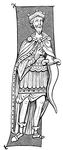 King or Chief of Franks armed with the Seramasax, from a Miniature of the Ninth Century