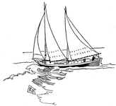 Schooner rigged Sharpie