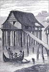 New Guinea hut on piles
