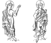Saints in the costume of the sixth century
