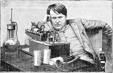 Edison with his Phonograph