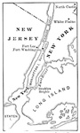Map Illustrating the Battle of Long Island