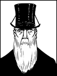 Top hat with beard