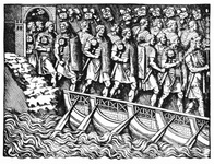 Roman Soldiers on Bridge of boats