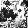 A Silversmith weighing clipped coins