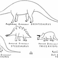 Outline Restorations of Dinosaurs