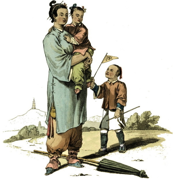 A nursery maid and two children.jpg