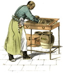 A tradesman with his swan-pan