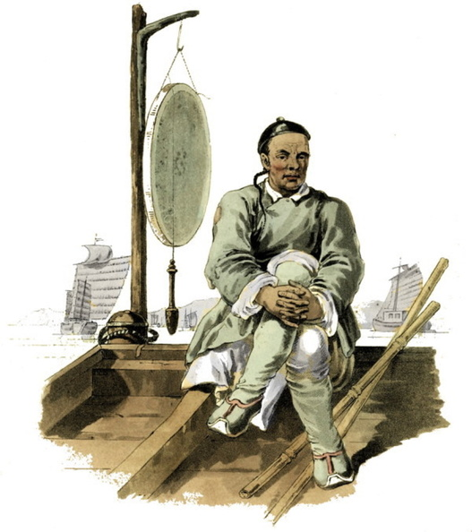 A waterman in his barge.jpg