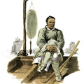 A waterman in his barge