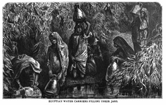 Egyptian Water Carriers filling their jars