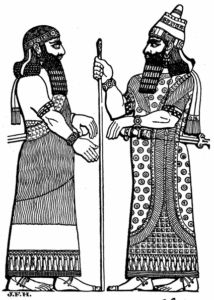 An Assyrian King and His Chief Minister.png