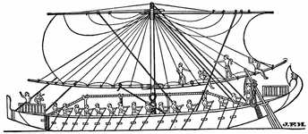 Egyptian Ship on Red Sea, 1250 B.C