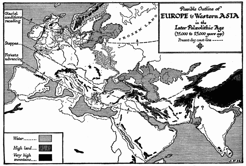 Europe and Western Asia in the Later Palæolithic Age.png