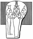 Pharaoh Rameses III as Osiris (Sarcophagus relief)