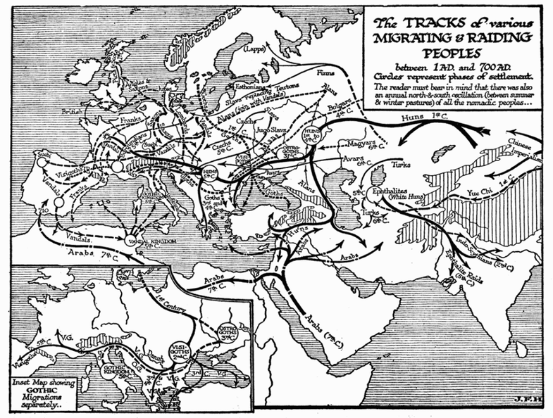 Tracks of Migrating and Raiding Peoples, 1-700 A.D..png