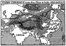 Yuan Chwang's Route from China to India