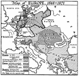 Map of Europe, 1848-1871