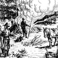 Making Tar At Jamestown From Pine Wood