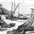 Repairing Nets At Jamestown About 1620
