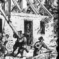 Building A Small Brick House At Jamestown, About 1630