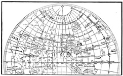North America from the globe of Johann Schöner