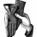 Hand with gloves