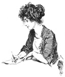 Young Lady Writing