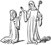 Benedictine Abbess and Nun
