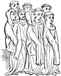 Group of Cistercian Monks