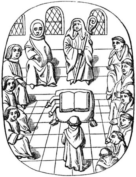 Monks and Lawyers in Chapter-house.jpg