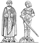 Monumental Brass of Alderman Field and his Son, a.d. 1474