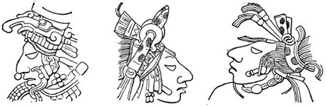 Types of Human Heads on the Lintels of Yaxchilan