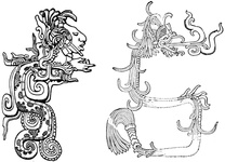Typical Elaborated Serpents of the Mayas
