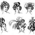 different styles of hair-dressing fashionable in 1830-31