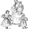 The costumes given for 1835 are a nursemaid and children