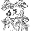 The dresses illustrated are two for walking, one dinner, and one for a ball 1834