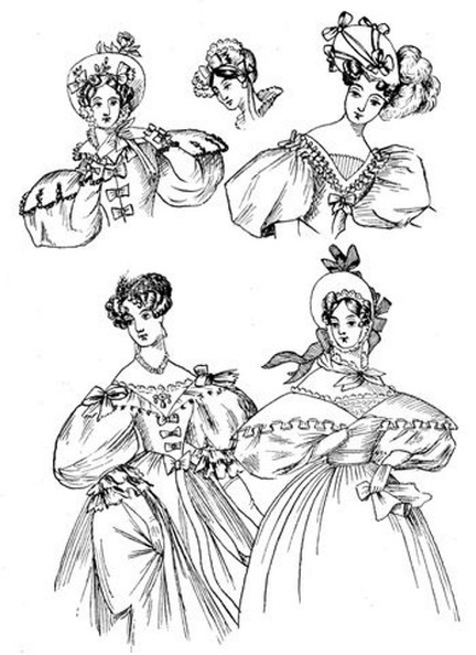 The fashions of 1833 include two walking-dresses, one dinner, and one ball-dress,.jpg