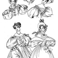 The fashions of 1833 include two walking-dresses, one dinner, and one ball-dress,