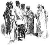 Arabs conversing with a Turk