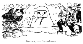 Daruma, the Snow-Image