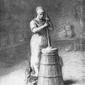 Peasant Woman and Churn
