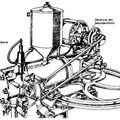 Drawing of 1885 Benz engine