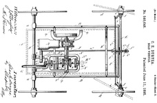 A drawing and the first page of the specifications of the first patent issued to C. E. Duryea