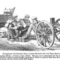 Nordenfeldt Five Barrel Rifle Calibre Machine Gun on field carriage