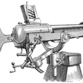 Hotchkiss Revolving Cannon for shell fire