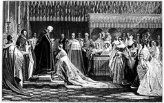 The Queen Receiving the Sacrament at her Coronation