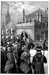 Arrival of the Royal Procession at the House of Lords