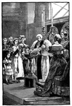 Christening of the Princess Louise in Buckingham Palace Chapel