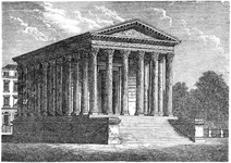Roman temple (maison carrée) in Nîmes